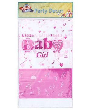 Birthdays & Parties Table Cover Baby Girl Print - Multi Colour