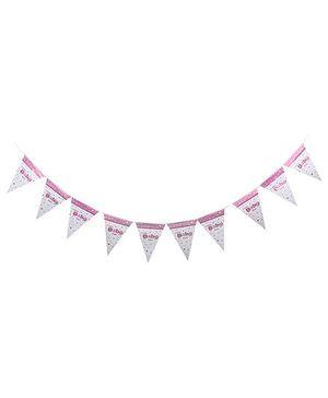Birthdays & Parties Banner Baby Girl Theme - Multi Colour