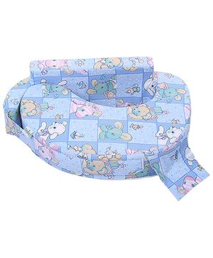 Babyhug Feeding Pillow Blue - Animals And Bird Print