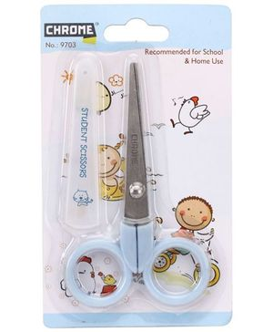 Chrome Student Scissors - Blue