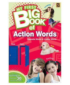 Golden Sapphire My First Big Book of Action Words - English