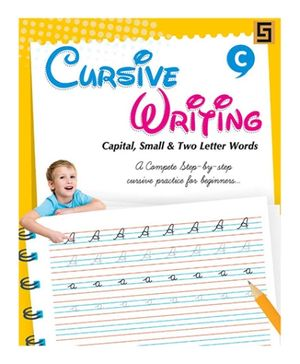 Golden Sapphire Cursive Writing Book Upper And Lower Case - Alphabets