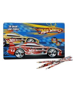 Color Long Pencils - Hot Wheels