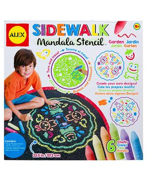 Alex Toys Sidewalk Mandala Stencil - Garden