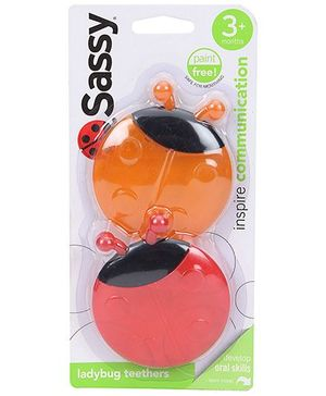 Sassy Lady Bug Teether - Orange And Red