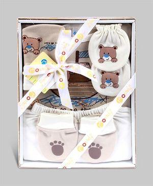 Montaly Baby Gift Set Teddy Print - Set of 5