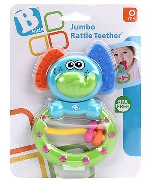 BKids Jumbo Rattle Teether - Multicolor