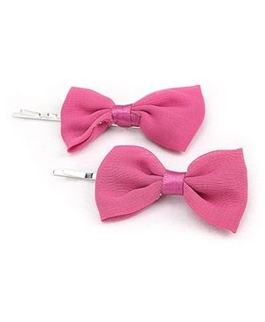 Addon Hair Clips Pink - Bow Design