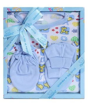 Montaly Baby Gift Set Blue - Set of 4