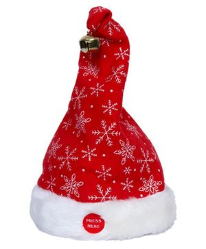 Party In A Box Dancing And Singing Santa Hat - 1 Piece