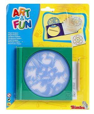 Simba Art And Fun Magic Designer Stencil - Green