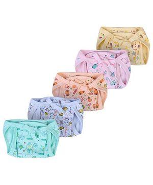 Babyhug Cloth Nappy String Tie Up With Insert Medium - Set Of 5