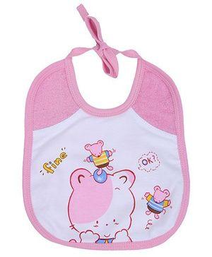 Child World Bib Pink - Bear Print
