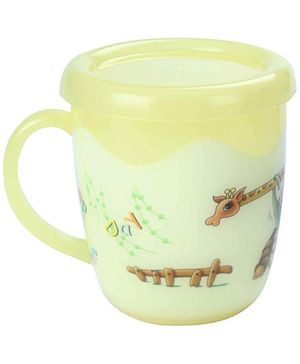 Fab N Funky Cup With Lid - Yellow
