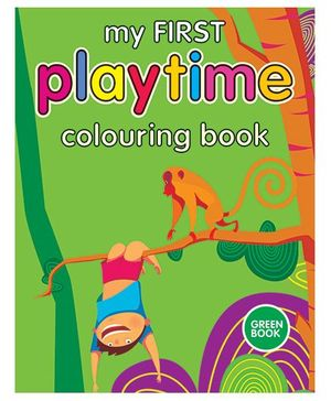 Shree Book Centre My First Playtime Colouring Book - Green
