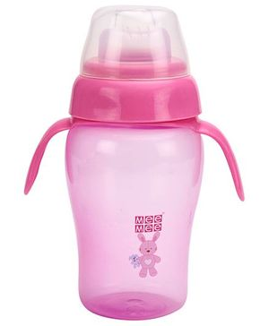 Mee Mee Twin Handle Non Spill Cup Pink - 300 ml