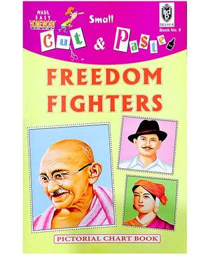Indian Book Depot map house Cut And Paste Chart Book Freedom Fighters - English