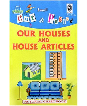 Indian Book Depot map house Cut And Paste Chart Book Our Houses And House Articles - English