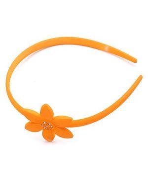 Hopscotch Hair Band Flower Motif - Orange