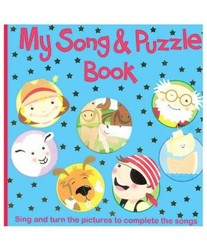 My Song And Puzzle Book Blue - English