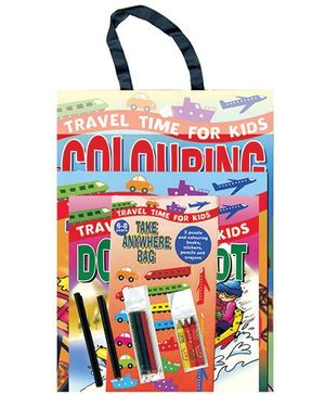 Travel Time For Kids Colouring Gift Pack - English
