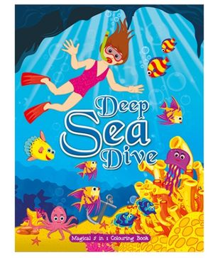 Art Factory Deep Sea Dive Magical 5 in 1 Coloring Book