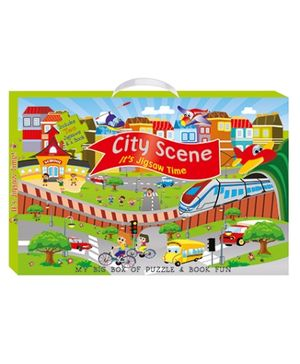 Art Factory City Scene My Big Box of Puzzle And Book Fun