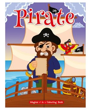 Art Factory - Pirate Magical 5 in 1 Colouring Book - English
