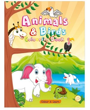 Art Factory Animals And Birds Coloring Book - English
