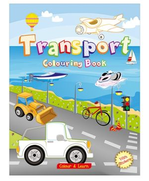 ART Factory Transport Coloring Book - English