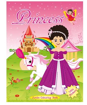 Art Factory Princess Jumbo Colouring Book - English