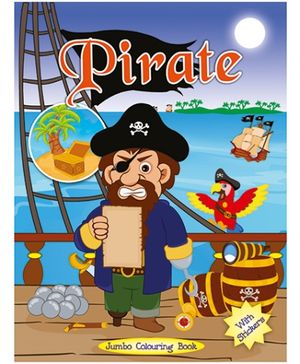 Art Factory Pirate Jumbo Colouring Book - English
