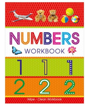 Art Factory Numbers Wipe And Clean Workbook - English