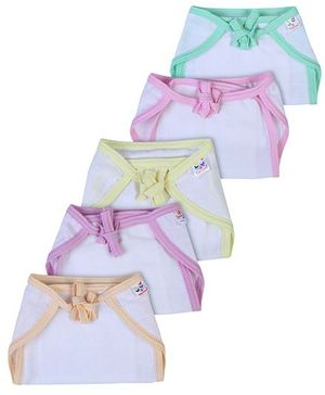 Tinycare Cloth Baby Nappy Small Multicolor - Set Of 5