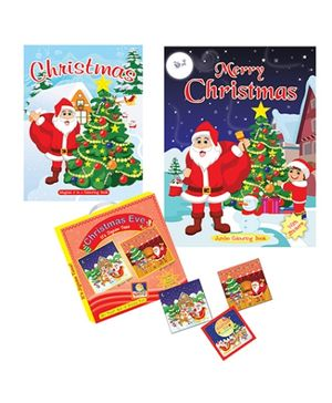 Art Factory Christmas Combo 3 in 1 Puzzle And Coloring - English