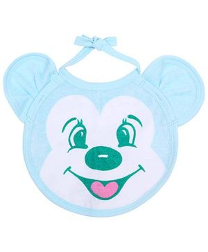 Child World Baby Bib Animal Face - Blue