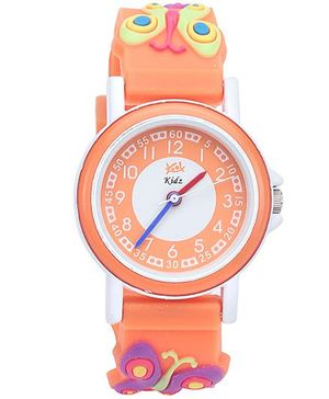 Kool Kidz Analog Wrist Watch Butterfly Design - Orange