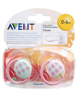 Avent Orthodontic Fashion Soother Pink - Pack Of 2