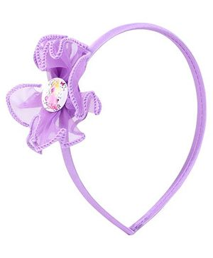 Barbie Hair Band Purple - Floral Applique