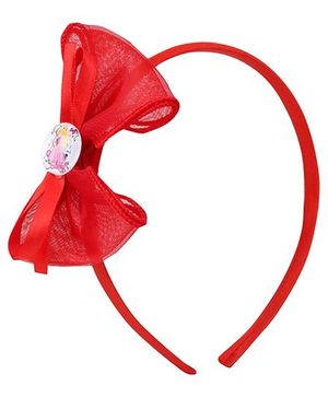 Barbie hair Band Light Red - Bow Applique