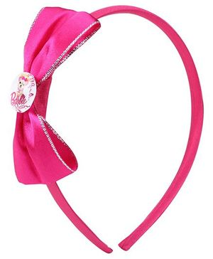 Barbie Hair Band Light Pink - Bow Applique