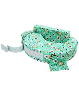 Babyhug Feeding Pillow Floral Print - Green