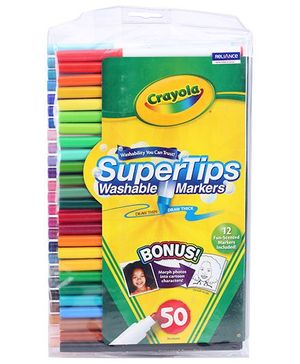Crayola Super Tips Washable Markers - 50