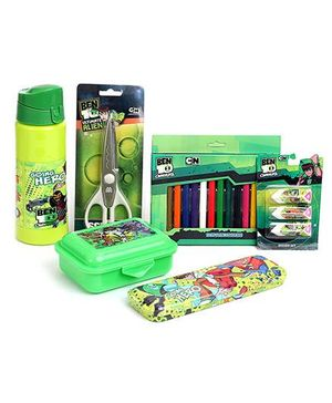 Ben 10 School Kit Green - Pack Of 6