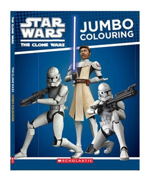 Scholastic Clone Wars Jumbo Colouring Book - English