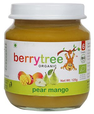 berrytree Pear And Mango Organic Puree - 125 gm