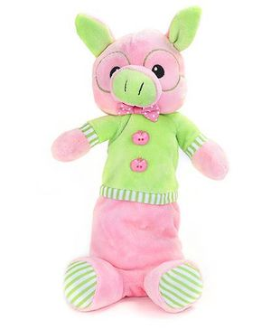 Fab N Funky Baby Pouch Pink And Green - Pig Shape