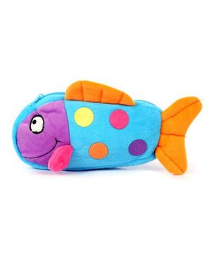 Fab N Funky Plush Baby Pouch Fish Shape - Blue