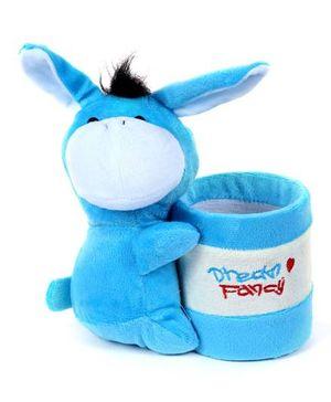 Fab N Funky Plush Pen Stand Blue - Donkey Design