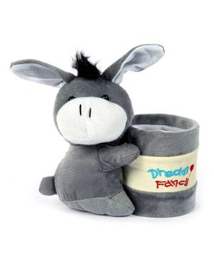 Fab N Funky Plush Pen Stand Grey - Donkey Design